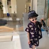 2021夏季新款兒童韓版卡通小熊套裝男童襯衫兩件套寶寶上衣褲子潮 幸福第一站