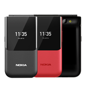 【拆封新品~指環扣手機支架+卡片套】Nokia 2720 Flip 4G折疊式手機
