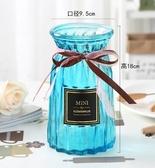 玻璃花瓶透明六角瓶