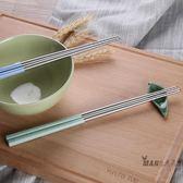 筷子 雙槍304不銹鋼筷子家用5雙家庭款防滑防燙防霉金屬筷馬卡龍5雙裝 全館滿額85折