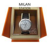 【台中米蘭站】HERMES 圓形機械黑色鱷魚錶帶腕表
