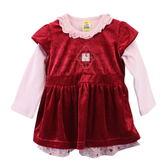 【愛的世界】剪絨洋裝套裝/2~3歲-台灣製- ★秋冬套裝