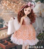 芭比娃娃-芭比娃娃 女 單個仿真玩具套裝女孩換裝公主60厘米超大智能洋娃娃 糖糖日繫女屋
