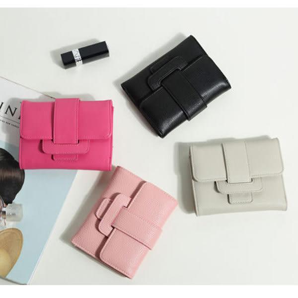 *UOU精品*韓款簡約氣質纯色造型多卡位迷你短款零錢包錢包皮夾短夾手拿包/4色/T012