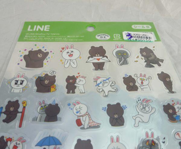 【震撼精品百貨】LINE FRIENDS_兔兔、熊大~ 貼紙-銀底/透明底【共2款】