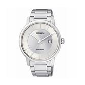 【Citizen星辰】PAIR對錶系列光動能時尚簡約日期腕錶-純淨白/BM6750-59A/台灣總代理公司貨享兩年保固