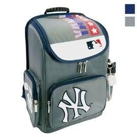 Backbager 背包族 【MLB 美國大聯盟 洋基】上課 護脊書包/書包/後背書包 (灰)