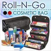 【D0312】折疊化妝包 收納包 旅行收納包 透明分層 化妝架 多功能洗漱包 戶外旅遊旅行包