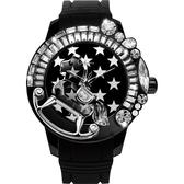 Galtiscopio迦堤 夢幻星際系列星空手錶-黑/50mm LG1BZS001BRS