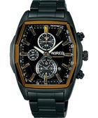 WIRED 馴龍騎士三眼計時手錶-IP黑 7T92-X261Y