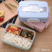 大號飯盒微波爐分格飯盒 塑料便當盒密封耐熱分隔餐盒      瑪奇哈朵