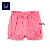 Gap女嬰兒 條紋鬆緊腰燈籠短褲 319499-粉紅色