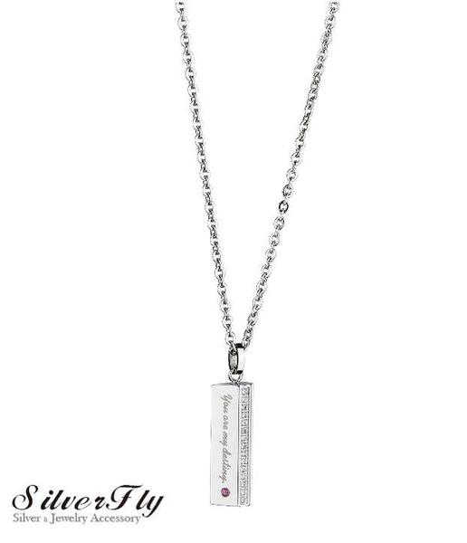 《SilverFly銀火蟲銀飾》【MIGO 2015 Stand by Me】愛的結晶白鋼項鍊 鑲嵌托帕石 SPT679