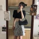 新款斑馬紋半身裙女夏季
