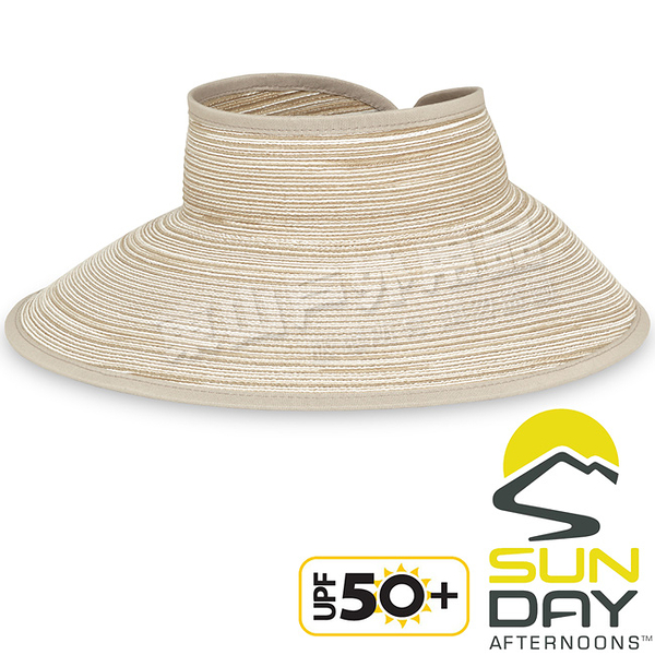Sunday Afternoons S2C21073C-270香草黃 防曬編織空頂帽 Sicily Visor