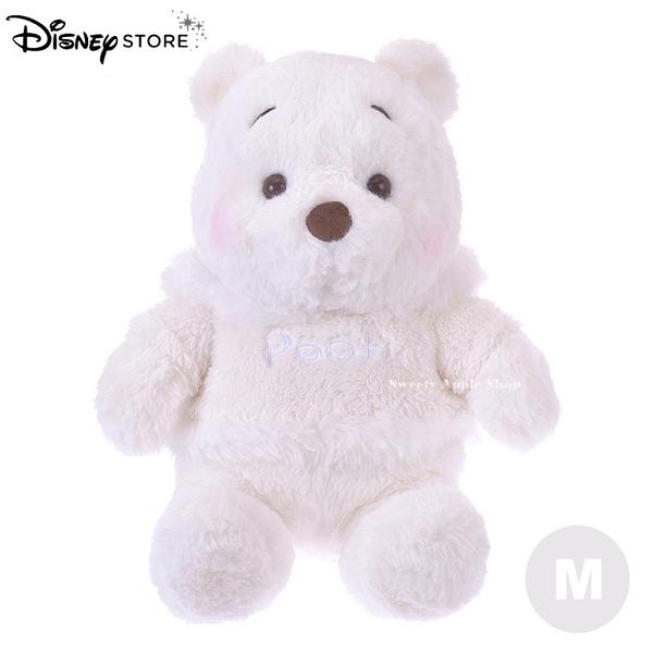 (現貨&實拍)日本DISNEY STORE迪士尼商店限定 雪白小熊維尼 絨毛娃娃M SIZE 34cm(日本超人氣搶購商品)