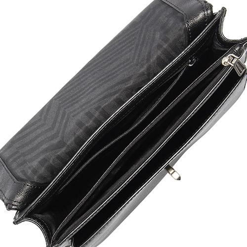 Rebecca Minkoff JE TAIM 菱格壓紋皮革手提斜背兩用包(黑色)220066