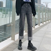 直筒牛仔褲 顯瘦3992#女裝朝風氣質春秋彈力煙管小直筒牛仔褲顯瘦高腰牛仔褲1F157 依品國際