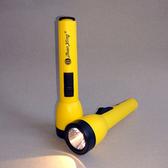 老式家用裝2節5號電池黃光LED燈經典式節能手電筒