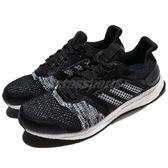 adidas 慢跑鞋 Ultra BOOST ST M 黑 藍 運動鞋 透氣網布 舒適緩震 男鞋【PUMP306】 CQ2144