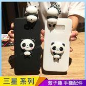 趴趴動物 三星 J4 J6 2018 卡通手機殼 立體熊貓造型 可愛少女心 A6+ 保護殼保護套 防摔軟殼