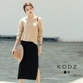 東京著衣【KODZ】歐美微性感時髦針織兩件式套裝-S.M.L(171898)