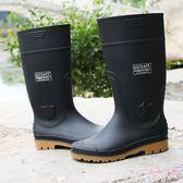 雨靴 男女高筒勞保雨鞋成人絕緣防水保暖防滑耐磨牛筋底工礦靴LB4144【Rose中大尺碼】