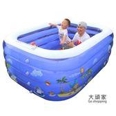 充氣泳池 新生兒童游泳池家用充氣超大號幼兒童游泳加厚室內小孩寶寶洗澡桶
