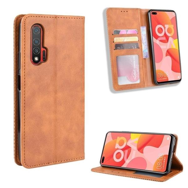 復古 掀蓋殼 華為Nova6 5G 4G 手機殼 隱形磁釦 華為 Nova 6 SE 磁吸 保護殼 翻蓋皮套 手機套