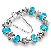 手鍊 串珠-水晶飾品淺藍海星生日情人節禮物女配件9色73bp47【時尚巴黎】