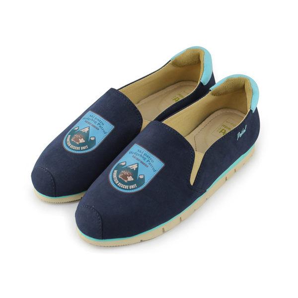 Paidal 童話森林圖騰徽章輕運動休閒鞋-寶石藍
