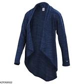 MIZUNO 女裝 外套 罩衫 瑜珈 休閒 吸汗 快乾 透氣 舒適 深藍【運動世界】K2TC920522