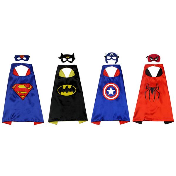 萬聖節 兒童服裝 多色披風 含面具 88191