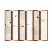 屏風隔斷客廳折疊移動簡約現代實木簡易酒店裝飾新中式辦公室折屏 潮流衣舍