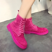 馬丁靴 復古馬丁靴女英倫風夏2020新款正韓粉色靴子百搭機車鞋短靴秋【快速出貨】