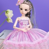 芭比娃娃 芭比洋娃娃女孩仿真玩具公主玩偶套裝精致單個大禮盒兒童禮物【快速出貨八折下殺】