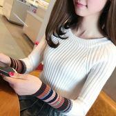 毛衣女短款秋冬季新款韓版修身顯瘦套頭長袖百搭半高領針織打底衫 居享優品