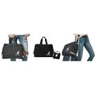 【南紡購物中心】~雪黛屋~KANGOL 旅行袋中容量可收納型固箱桿旅行備用袋進口防水防尼龍布