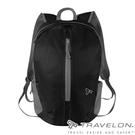 丹大戶外【TRAVELON】折疊收納後背包 TL-42817 黑 旅遊包│輕量方便攜帶收納│防盜包