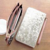 小錢包女長款百搭拉鏈韓版手機包零錢包袋手包手拿包迷你錢夾女式
