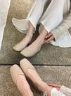 平底單鞋單鞋女平底春季淑女豆豆春款方頭復古春秋淺口仙女氣質奶奶鞋特賣