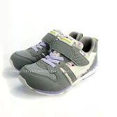 日本月星MOONSTAR 魔鬼氈機能學步鞋 《7+1童鞋》B448銀灰色