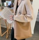 潮女大包包 2021新款韓版潮大容量女士學生單肩包手提包百搭簡約女包大包【快速出貨八折鉅惠】