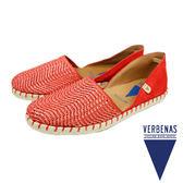 【VERBENAS】CARMEN卡門編織皮革面草編鞋/休閒鞋 紅色(030058-RE)