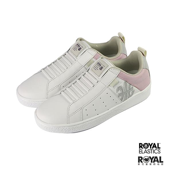 Royal Manhood 白色 皮質 套入 運動休閒鞋 女款 NO.I9993【新竹皇家 92093-066】