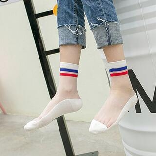 ►網紗學院風襪子 水晶短襪韓國薄款可愛玻璃絲襪船襪【B7132】