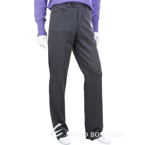 VERSACE 金屬牌飾西裝褲(灰色) 0580002-06
