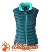 【Wildland 荒野 女款 700FP輕量羽絨背心 土耳其藍】 0A32171/連帽外套/羽絨外套/保暖外套★滿額送