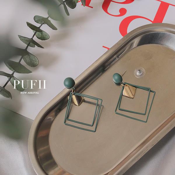 PUFII-耳環 雙方型耳環-0530 現+預 夏【CP16819】