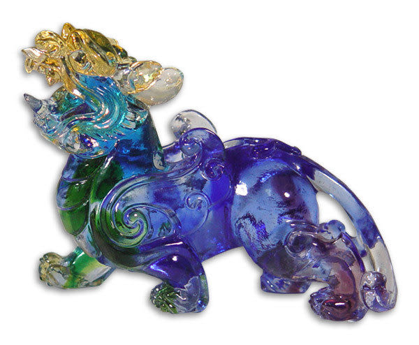 鹿港窯~居家風水吉祥琉璃【 天賜貔貅 】 附精美包裝◆附古法製作珍藏保證卡◆免運費送到家